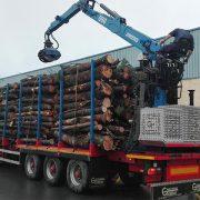 Una de nuestras plataformas forestales, a pleno rendimiento