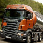 Camión Scania; uno de los fabricantes participantes en el Cartel de camiones.